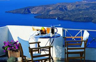 Остров Санторини през септември в хотел Theoxenia