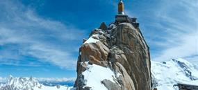 Chamonix, hora Mont Blanc a Ženeva