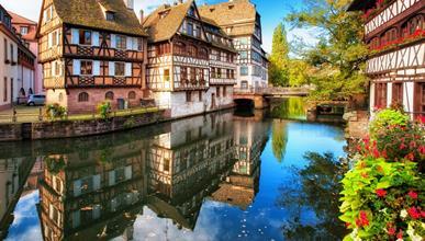Strasbourg, Kolmar, Basilej, Rýnské vodopády **