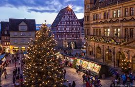 Bavorské město Vánoc Rothenburg ob der Tauber - 12/15