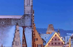 Bavorské město Vánoc Rothenburg ob der Tauber - 7/15