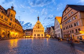 Bavorské město Vánoc Rothenburg ob der Tauber - 9/15