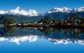 Nepál a štíty Himalájí