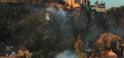 Romantický Vranov nad Dyjí a středověký hrad Hardegg