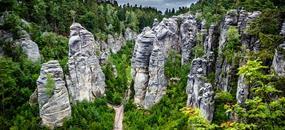 Český Ráj - hrad Kost, Prachovské skály a loupežník Rumcajs