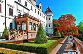 Zámek Konopiště a park v Průhonicích