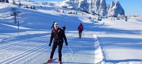 Běžkování v Dolomitech