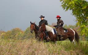 Putování na koních pro pokročilé jezdce