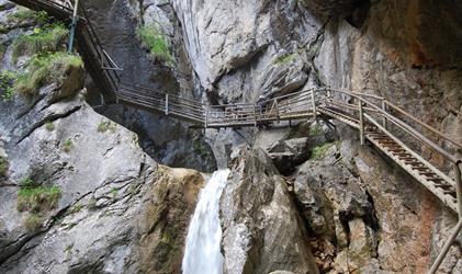 Rakouské soutěsky, kaňony a vodopády