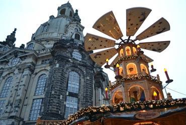 Advent v Drážďanech a v zahradě zámku v Pillnitz