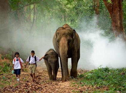 Thajsko - Letecky ze severu na pláže jihu