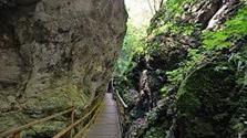 Soutěska Steinwandklamm + vodopády Myrafälle