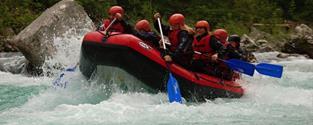 Rafting ve Slovinsku