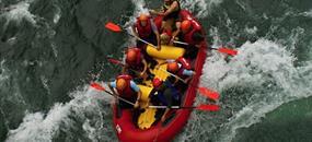 Rafting a kanoe v Chorvatsku