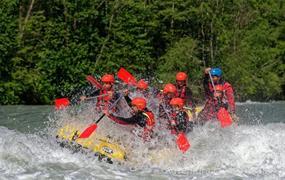 Rafting a ferrata v Rakousku