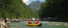 Salza a Steyr na kanoích
