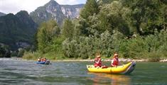 Letní řeky Dolomit
