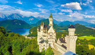 Bodamské jezero a královské zámky Bavorska