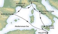 MSC Meraviglia - Do Říma, Palerma, Barcelony nejnovější lodí
