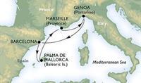 MSC Preziosa - Itálie, Španělsko, Mallorca, Francie