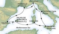 MSC Splendida - Itálie, Španělsko, Francie