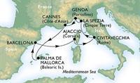 MSC Orchestra - Itálie, Francie, Španělsko (letenka z Vídně v ceně)