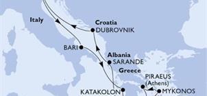 MSC Poesia - Plavba Jaderským a Jónským mořem (bus z ČR)