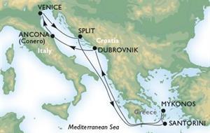 MSC Sinfonia - Plavba z Benátek do Chorvatska a Řecka (bus z ČR)
