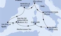 MSC Divina - Itálie, Sicílie, Sardinie, Mallorca, Španělsko, Francie