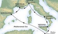 MSC Meraviglia - Západním Středomořím nejnovější lodí (letenka z Vídně v ceně)