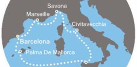 Costa Diadema - Španělsko, Baleáry, Itálie, Francie
