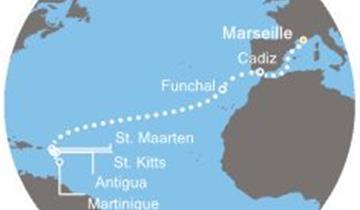 Costa Pacifica - Francie, Španělsko, Madeira, Antily