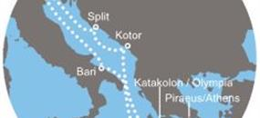 Costa Luminosa - Itálie, Řecko, Černá Hora, Chorvatsko