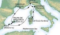 MSC Opera - Dovolenkové Baleáry a romantická Sardínie