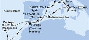 MSC Sinfonia - Itálie, Francie, Španělsko, Portugalsko, Maroko