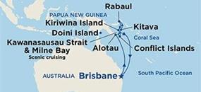 Sea Princess - Plavba z Austrálie na Papua Novou Guineu