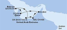 MSC Splendida - Arabské emiráty, Bahrajn, Katar