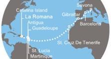 Costa Pacifica - Dominikán.rep., Antily, Kanárské ostrovy, Gibraltar, Španělsko, Itálie