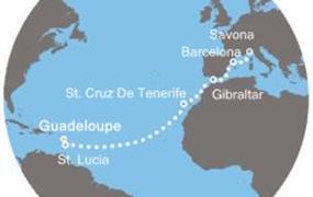 Costa Pacifica - Antily, Kanárské ostrovy, Gibraltar, Španělsko, Itálie