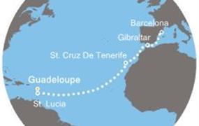 Costa Pacifica - Antily, Kanárské ostrovy, Gibraltar, Španělsko