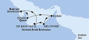 MSC Bellissima - Arabské emiráty, Bahrajn, Katar