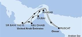 MSC Bellissima - Arabské emiráty, Omán