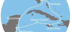 Costa Luminosa - Florida (USA), Bahamy, Jamajka, Kajmanské ostrovy, Belize, Honduras, Mexiko