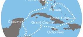 Costa Deliziosa - Florida (USA), Bahamy, Turks a Caicos, Jamajka, Kajmanské ostrovy, Honduras, Mexiko