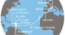 Costa Pacifica - Antily, Dominikán.rep., Kanárské ostrovy, Gibraltar, Španělsko, Itálie, Francie