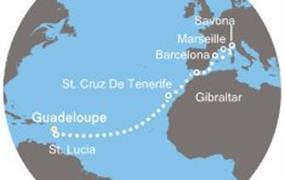Costa Pacifica - Antily, Kanárské ostrovy, Gibraltar, Španělsko, Itálie, Francie