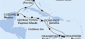 MSC Divina - USA, Aruba, Jamajka, Kajmanské ostrovy, Mexiko