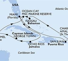 MSC Seaside - USA, Jamajka, Kajmanské ostrovy, Mexiko, Bahamy, Portoriko, Panenské ostrovy (U.S.)