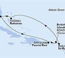 MSC Divina - USA, Portoriko, Panenské ostrovy (British), St. Maarten, Bahamy