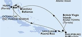 MSC Divina - USA, Bahamy, Portoriko, Panenské ostrovy (British), St. Maarten